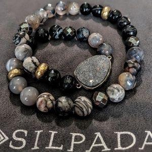 Silpada Ode to the Geode Stretch bracelet. Retired